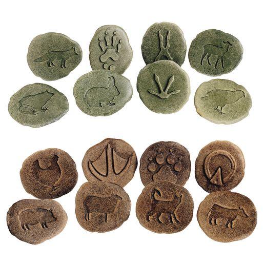 Farmyard and Woodland Footprint Stones