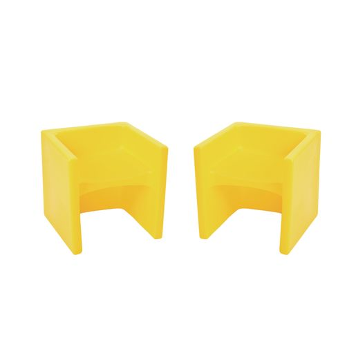 Cube Chair 2 Pack - Yellow