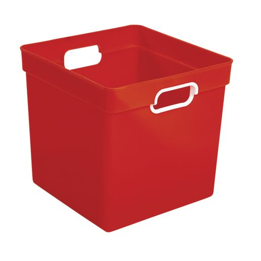 Cube Storage Bin Red