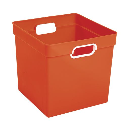 Cube Storage Bin Orange