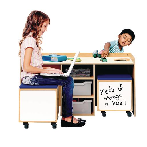 STEM Activity Table and Mobile Bin Set for Two
