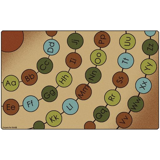 "Radiating Alpha Circles Nature 8'4"" x 13'4"" Rectangle Premium Carpet"