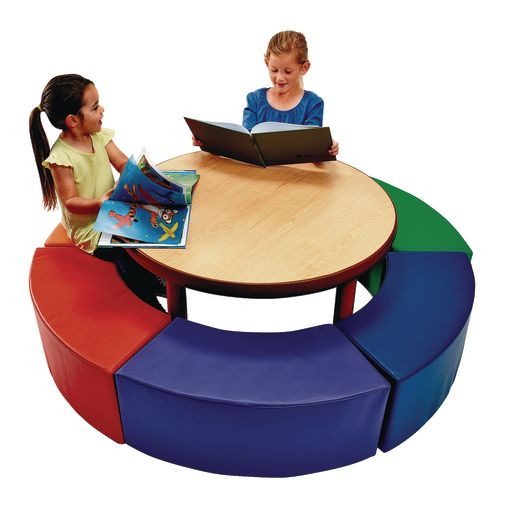 """Flexible Seating 36"""" Round Table and Seats Set of 7"""