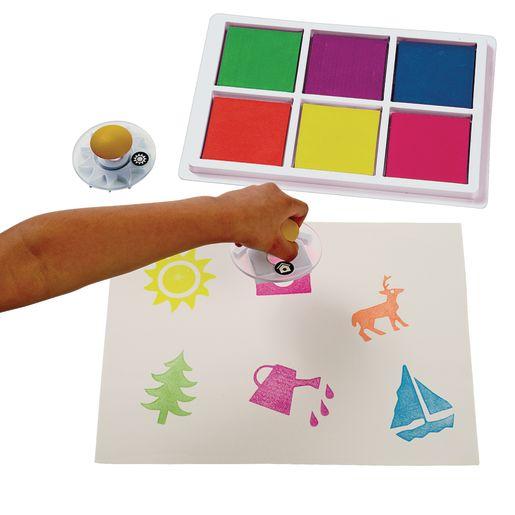 Colorations® Jumbo Washable Neon Classroom Stamp Pad