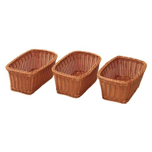 Wicker-Look Baskets Set of 3