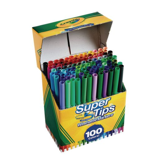 Image of Crayola Supertip Markers - Set of 100