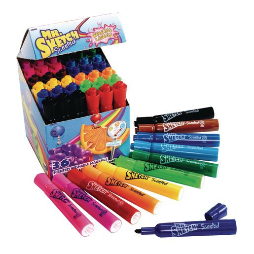 Mr. Sketch® Washable Scented Markers Set of 36
