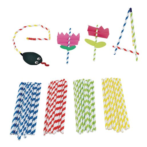 Colorations® Paper Art Straws Set of 100_0