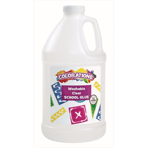 Colorations® Washable Clear Glue, Half Gallon