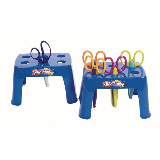 Plastic Scissor Stand for 6 - Set of 2