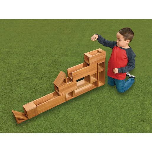 Outdoor Jumbo Wood Blocks Set of 12