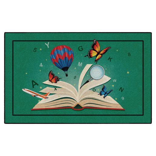 Explore Through Reading Carpet - 4' x 6' Rectangle