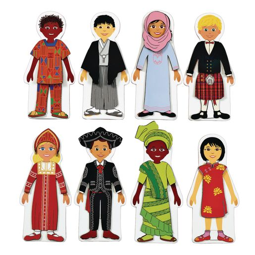 Excellerations® Magnetic Multicultural Dressing Dolls