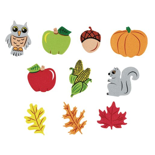 Colorations® Self-Adhesive Festive Fall foam 300 Pieces