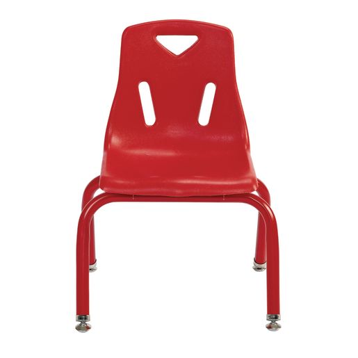 """Single 12"""" Berries® Stacking Chairs with Matching Legs - Red"""
