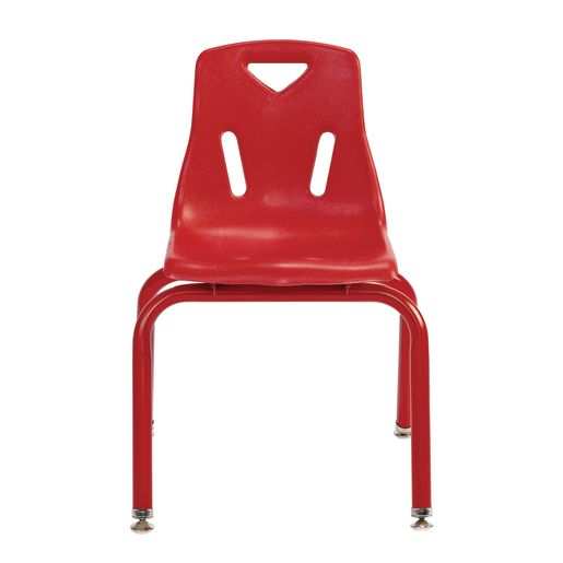 """Single 14"""" Berries® Stacking Chairs with Matching Legs - Red"""