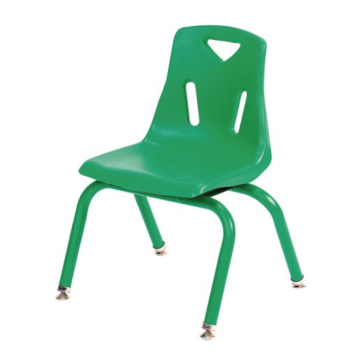 "Single 14"" Berries® Stacking Chairs with Matching Legs - Green"