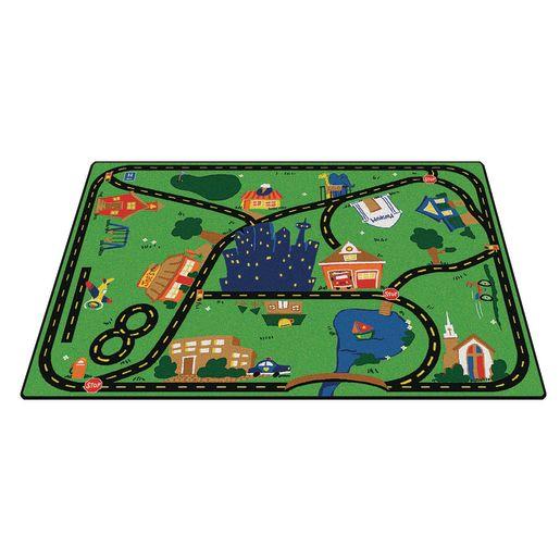 """Cruisin' Around the Town 3'10"""" x 5'5"""" Rectangle Premium Carpet"""