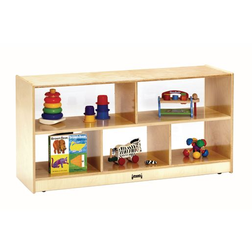 Toddler Divided Shelf Mobile Storage Plexiglas® Back