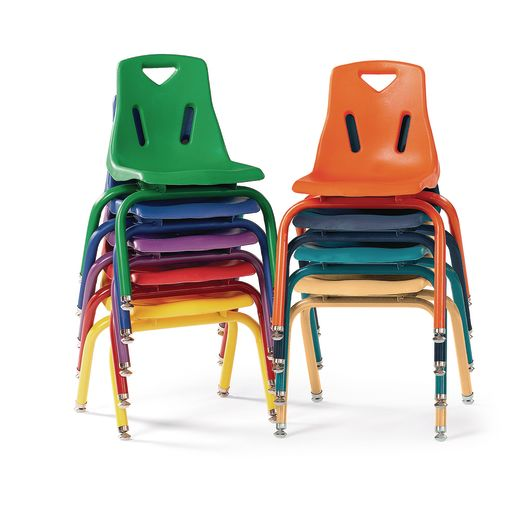 """10""""H Chair with matching legs - Orange"""