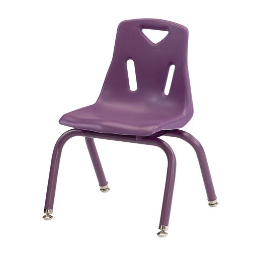 "Single 12"" Berries® Stacking Chairs with Matching Legs - Purple"
