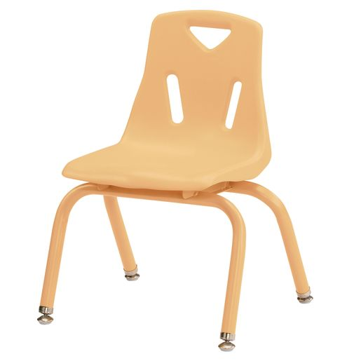 """Single 12"""" Berries® Stacking Chairs with Matching Legs - Camel"""