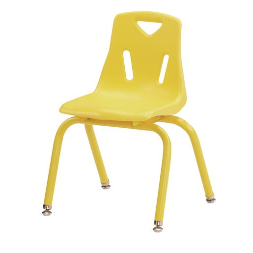 "Single 14"" Berries® Stacking Chairs with Matching Legs - Yellow"