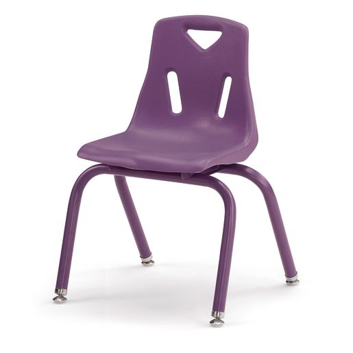 """Single 14"""" Berries® Stacking Chairs with Matching Legs - Purple"""