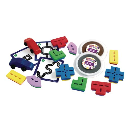 Colorations® Road Stampers Activity Set