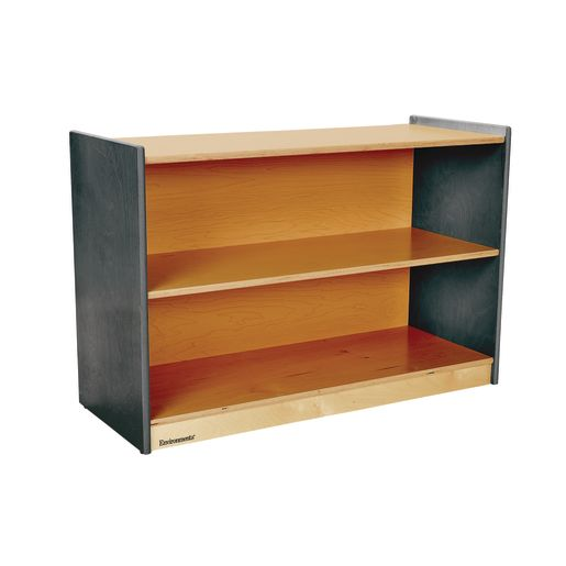 "Environments® 24"" High, 2 Shelf Storage with Green Tea Sides"