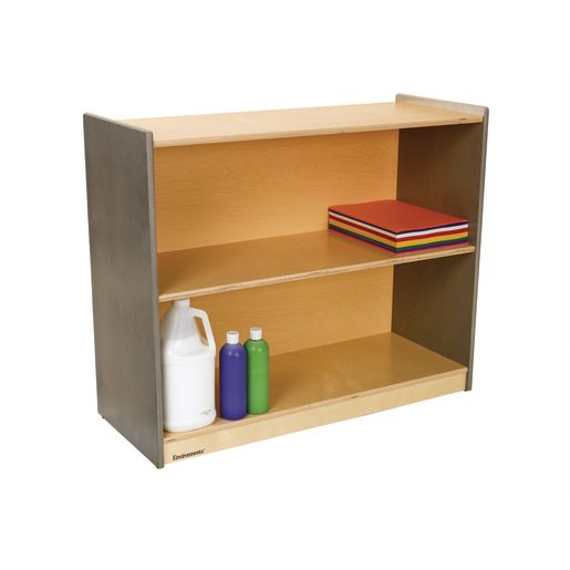 "Environments® 30"" Forest Wood Straight Shelf - Gray"