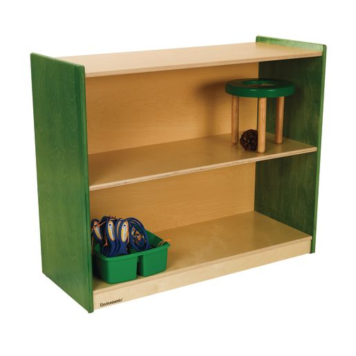 "Environments® 30"" Forest Wood Straight Shelf - Green"