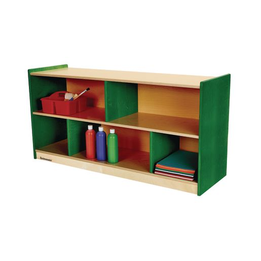 "Environments® 24"" Forest Wood Divided Shelf - Green"