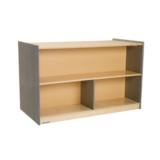 Image of Environments Forest Wood Double-Sided Shelf - Gray