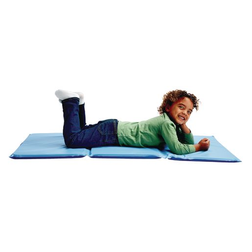 "1"" Germ-Free Two-Tone Blue Rest Mats - Set of 12"