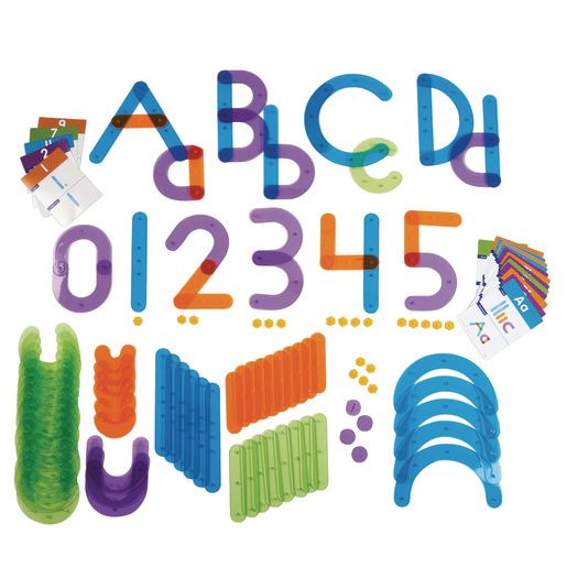 Letter and Number Construction Set 128 Pieces