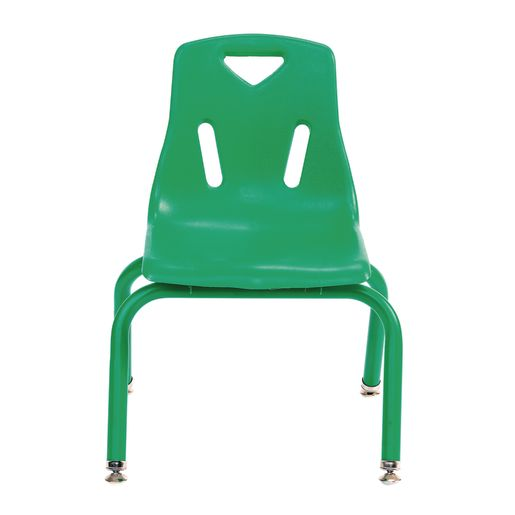 """10"""" Berries® Stacking Chairs with Matching Legs, Green - Set of 6"""
