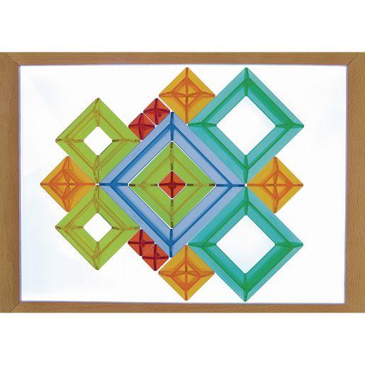 Translucent Shape Construction Set 15 Pieces