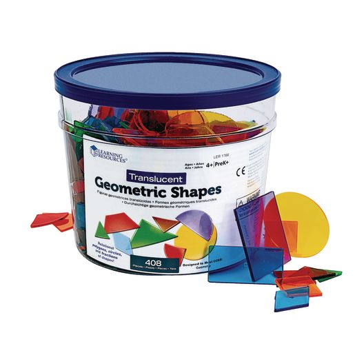 Translucent Geometric Shapes 408 Pieces
