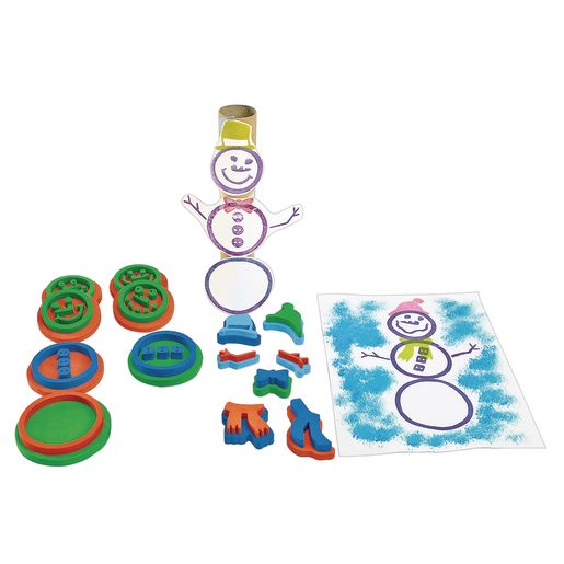 Image of Colorations Stamp-A-Snowman 15 Piece Set