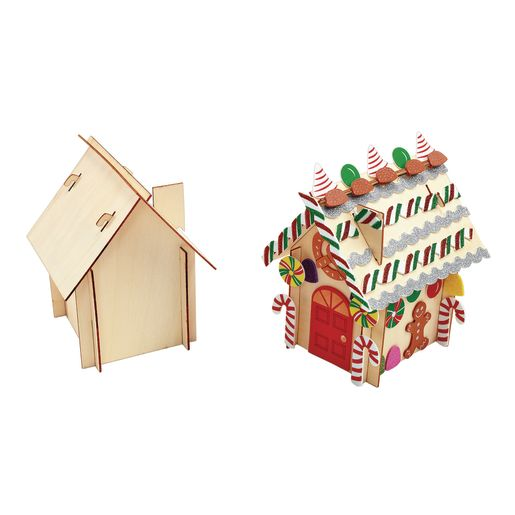 Colorations® Easy-Build Gingerbread House Kit for 6