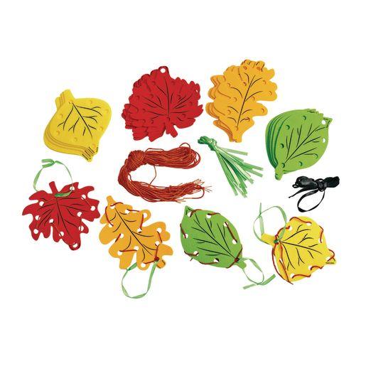Image of Fun Weaving Leaves Set of 24