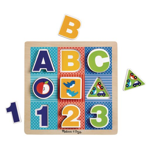 ABC - 123 Chunky Puzzle 9 Pieces
