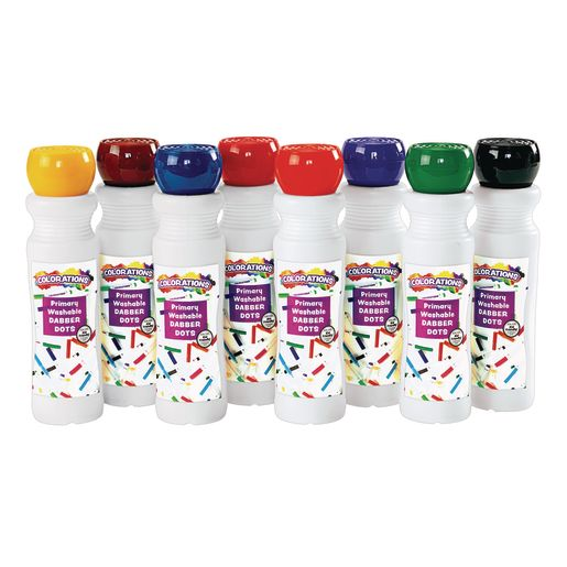Image of Colorations Washable Primary Dabber Dots Set of 8