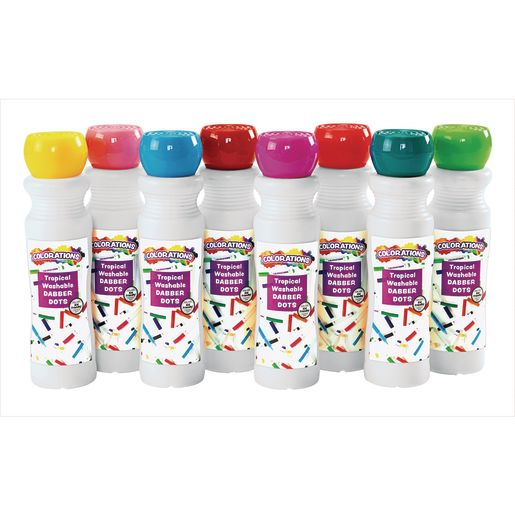Image of Washable Tropical Dabber Dots Set of 8