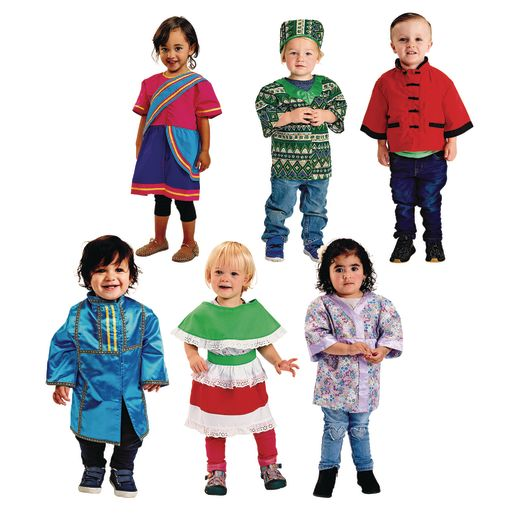 Image of Toddler Traditional Multicultural Clothing Set of 6