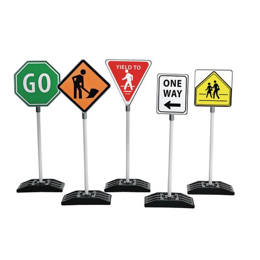 Image of Double-Sided Traffic Signs Set of 5