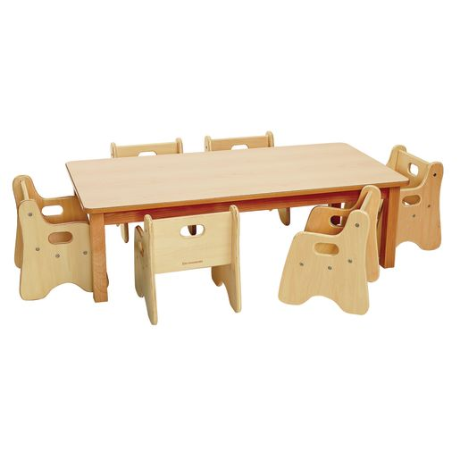 """Rectangle Table & Chairs 48""""L x 24""""W x 16""""H"""