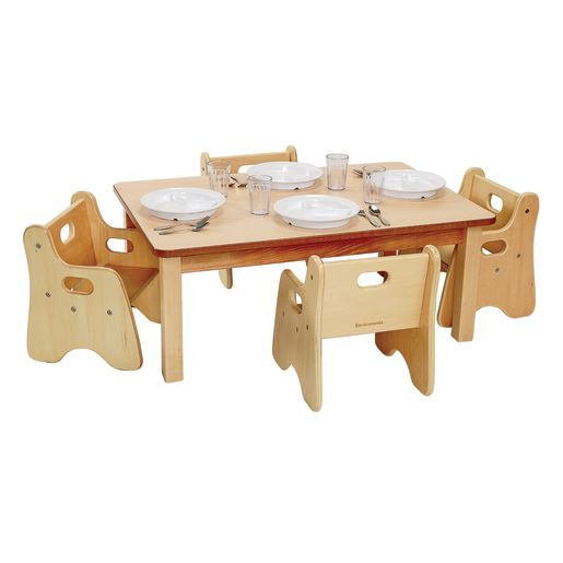 """Rectangle Table & Chairs 24"""" x 36"""""""