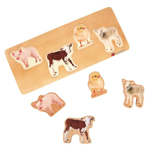 Environments® Toddler Photo Puzzles- Farm Animals